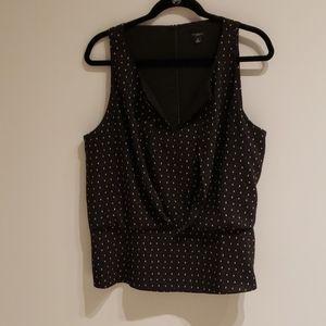 Ann Taylor EUC Black Top Size 14